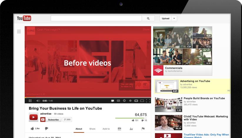anuncios de vídeo en Youtube